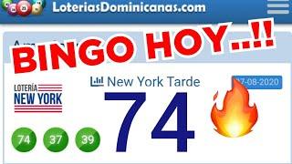 VAMOS CON FE..!! BINGO hoy...!! ( 74 ) loteria NEW YORK TARDE..! LOS NÚMEROS QUE MÁS SALEN HOY.