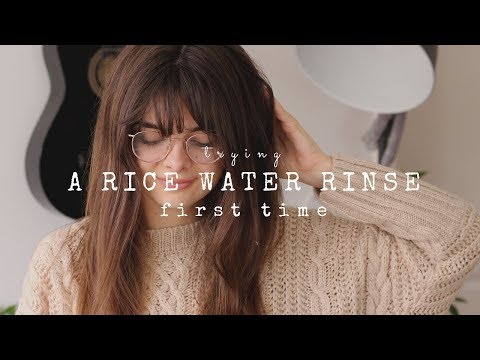 Trying A Rice Water Rinse For Strong, Shiny Hair