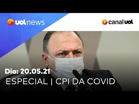 CPI da Covid: análise do 2º dia de depoimento de Pazuello | UOL News Especial (20/05/2021)