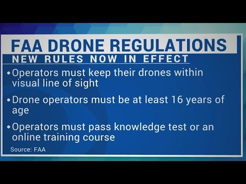 New FAA drone rules go into effect