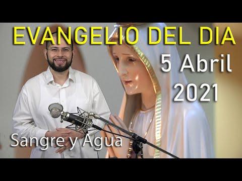 Evangelio Del Dia de Hoy - Lunes 5 Abril 2021- Diganle a Mis Hermanos -Sangre y Agua