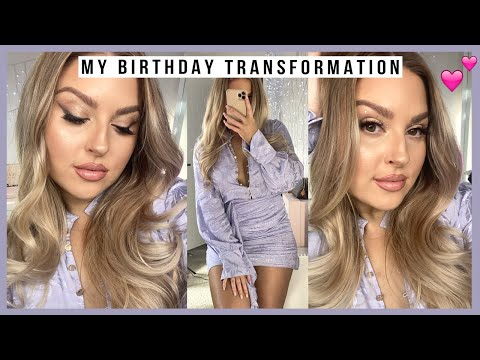 my BIRTHDAY transformation! 🎂 hair, makeup & outfit! 🔥 2020