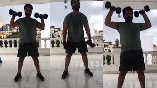 Vishwak Sen Heavy GYM Workout Video | Vishwak Sen Latest Gym Videos | TFPC - TFPC