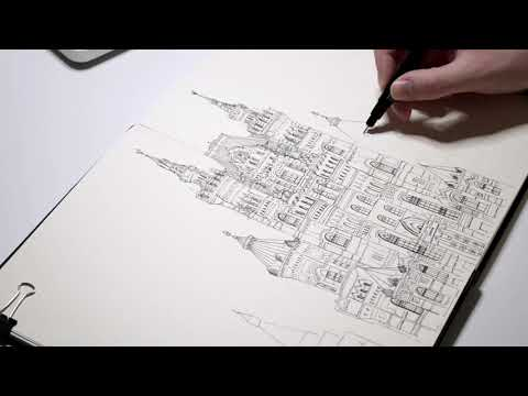 Drawing a building in my book