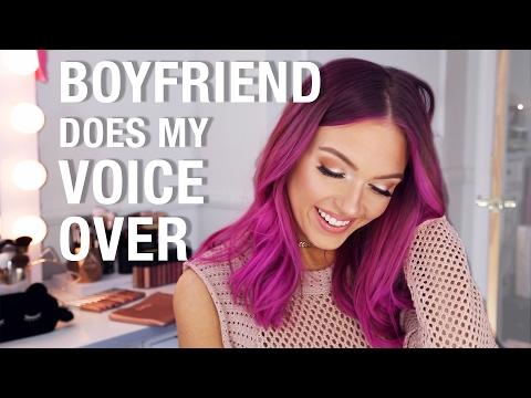 BOYFRIEND DOES MY VOICEOVER | Glowy Makeup Look