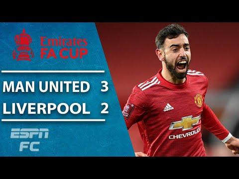 Man United wins thriller vs. Liverpool on Bruno Fernandes free kick | ESPN FC FA Cup Highlights
