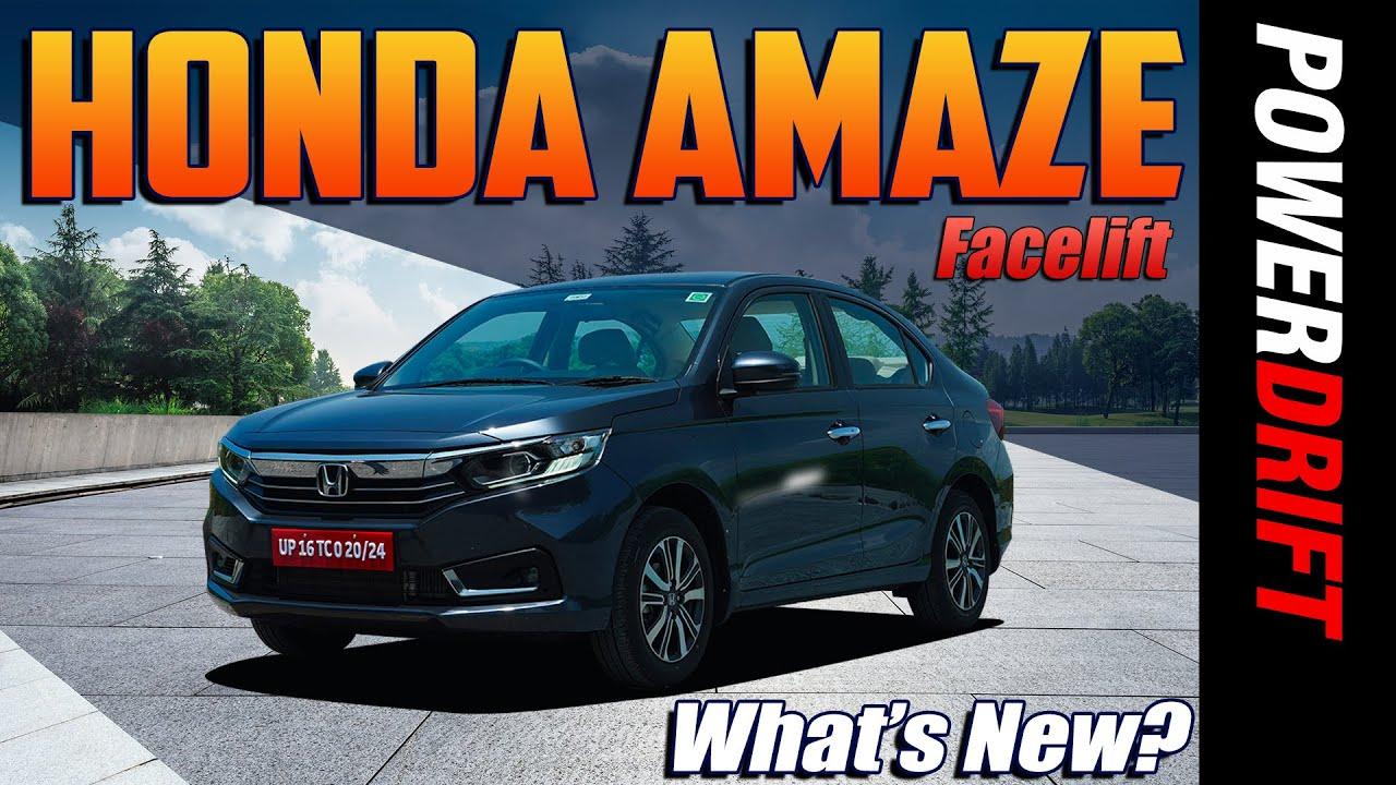 Honda Amaze Facelift   Same Same but Different   PowerDrift