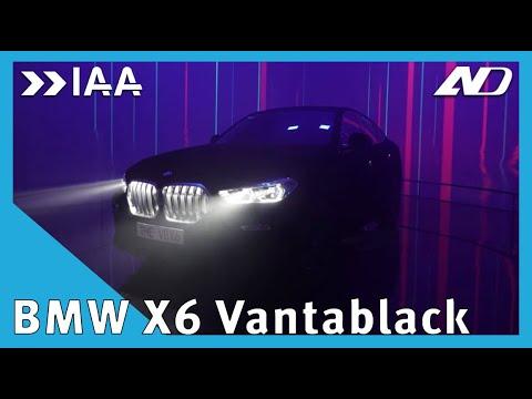 BMW X6 Vantablack: más negro que tu conciencia - IAA2019