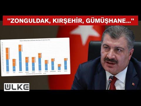 Sağlık Bakanı Koca, koronavirüs vaka sayısı en çok artan ve azalan illeri açıkladı
