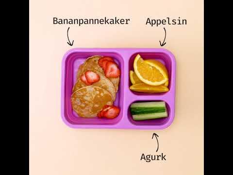 Matpakker - matglede på boks. Bananpannekaker.