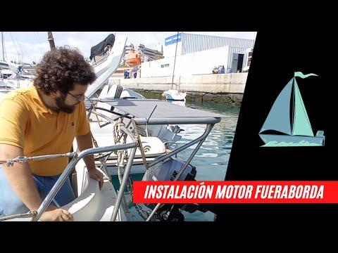 Cómo instalar un motor fueraborda en un velero de popa inclinada detalle a detalle