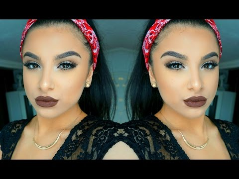Natural Eyes + Bold Brown Lip Makeup Tutorial | FALL 2015