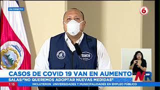Funcionario con vacunas completas está delicado por COVID-19