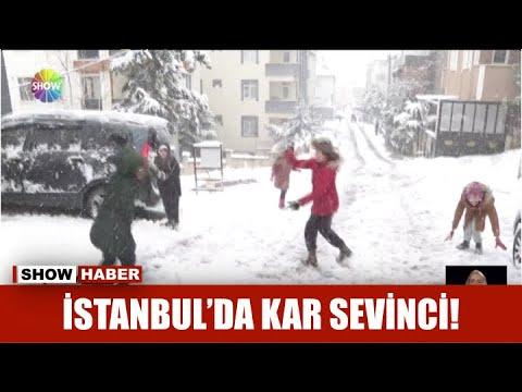 İstanbul'da kar sevinci!
