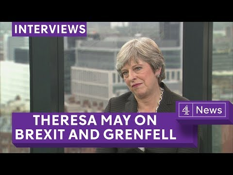 Theresa May speaks to Jon Snow about Brexit and Grenfell Tower