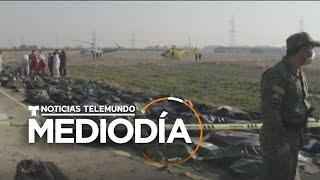 No hay sobrevivientes en el avión que se estrelló en Teherán   Noticias Telemundo