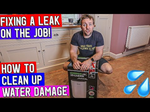 HOW TO FIX A LEAK & AVOID WATER DAMAGE – Meaco Dehumidifier on the job