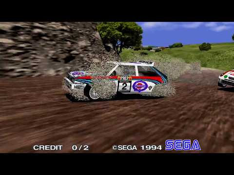 Sega Rally Championship (elsemi's sega model 2 emulator 60hz@1080p) (Gamedvr capture)
