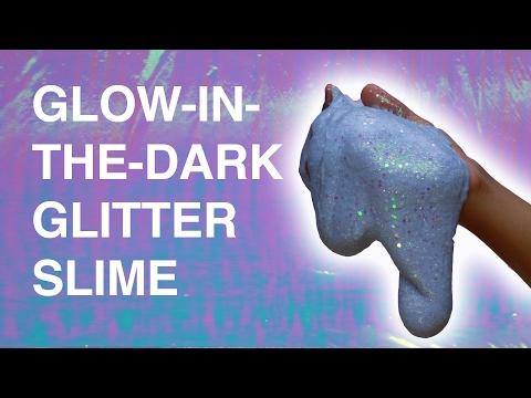 Glow-In-The-Dark Glitter Slime