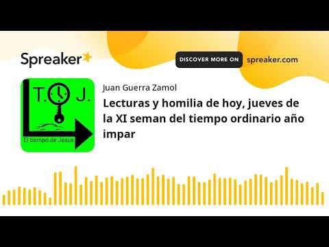 Lecturas y homilia de hoy, jueves de la XI seman del tiempo ordinario año impar (made with Spreaker)
