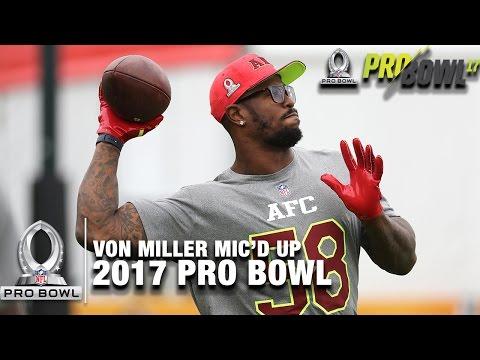 "Von Miller Mic'd Up at the 2017 Pro Bowl Practice ""That's that Peyton Manning"" | NFL"