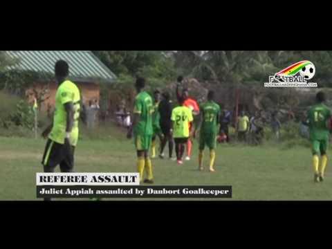 VIDEO: Danbort FC goalkeeper Prosper Gbeko facing Ghana FA rap after punching female referee