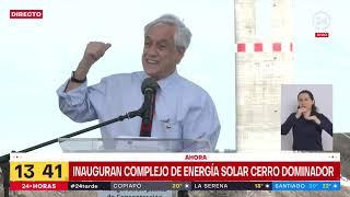 Presidente Piñera inaugura complejo de energía solar Cerro Dominador