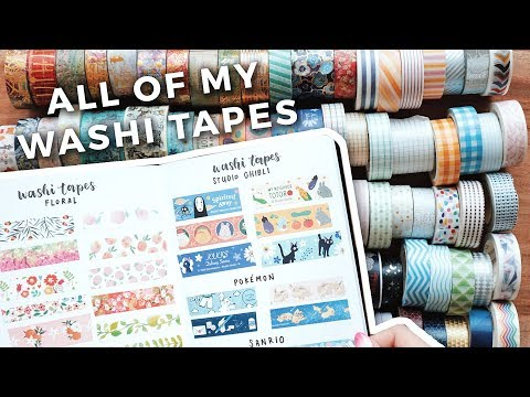 Swatching My Entire Washi Tape Collection
