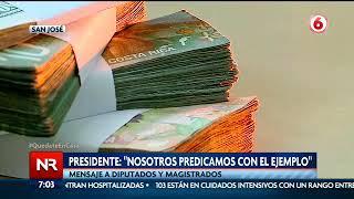 Presidente Alvarado pide a ministros y presidentes ejecutivos rebajarse sus salarios en un 15%