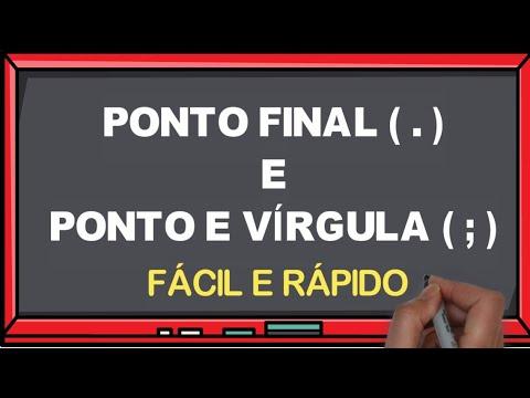Pontuação - Ponto Final e Ponto e Vírgula l Português On-line