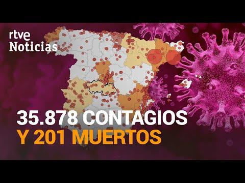 El Ministerio de SANIDAD notifica 35.878 nuevos CASOS y 201 MUERTOS en el último día | RTVE Noticias