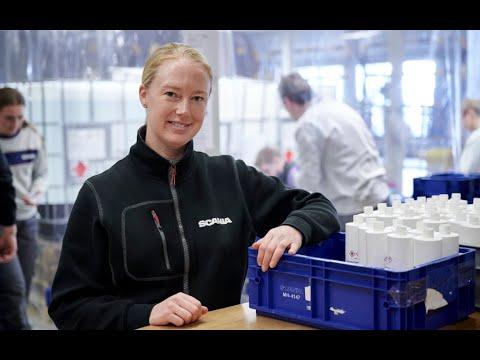 Scania unterstützt: Von Einspritzdüse zu Desinfektionsmittel
