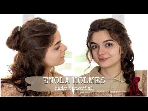 Enola Holmes Hair Tutorial 🕵🏻♀️ Three Styles From The Movie