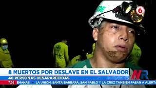 8 muertos y 35 desaparecidos por deslave en El Salvador