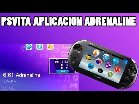 PSVita enseñando Adrenaline juegos de PSX-PSP-PSVita