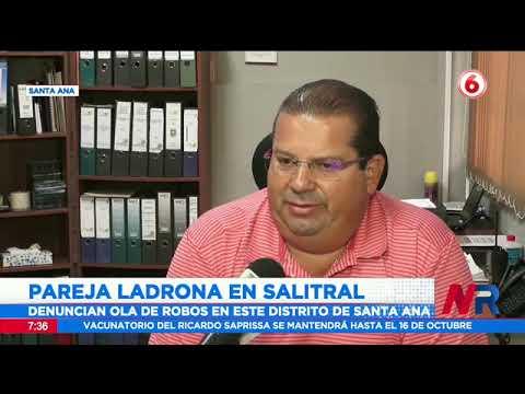 Pareja de ladrones azota a vecinos de Salitral en Santa Ana