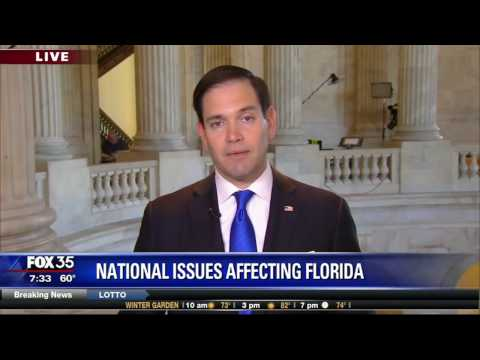 Rubio discusses ObamaCare, immigration, JCC threats on Fox35 Orlando