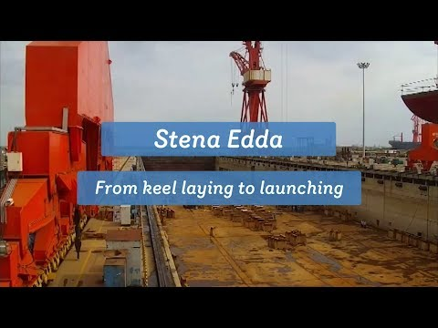 Watch Stena Edda take shape - timelapse