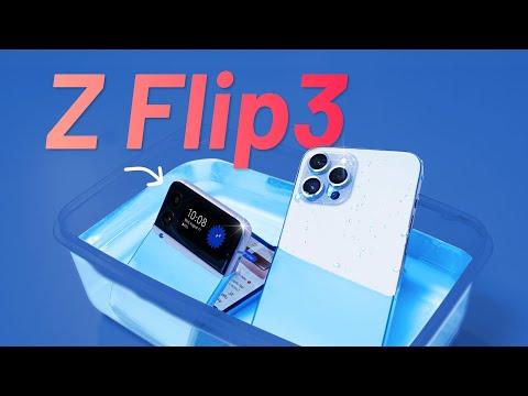 Mở hộp và nhúng nước Galaxy Z Flip3: ngang ngửa iPhone 12 Pro Max