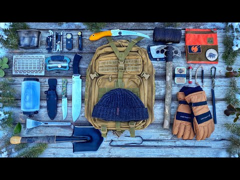 6 Days Winter Camping in a BLIZZARD Rocky Mountains - The Survival Kit