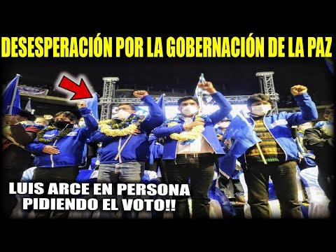 Luis Arce Choquehuanca y Evo en cierre de campaña de Franklin Flores - Gobernación de La Paz