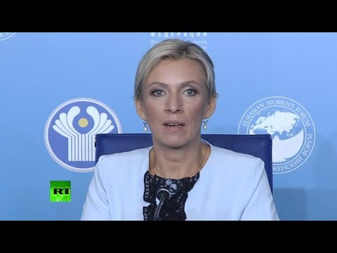 Zakharova holds weekly briefing in St. Petersburg