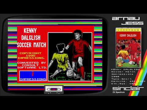 Kenny Dalglish SOCCER MATCH Zx Spectrum by Impressions
