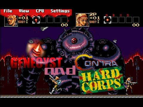 CONTRA in GENECYST the sega emulator from 1997
