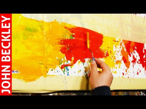 Abstract Painting EASY With Masking Tape | Rubia