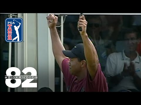 Tiger Woods wins 2002 Buick Open Chasing 82