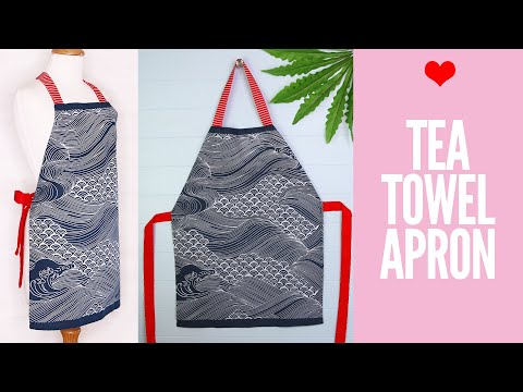 DIY Tea Towel Apron | Dish Cloth Apron Tutorial