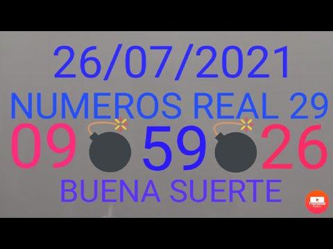NUMEROS PARA HOY 26/07/21 DE JULIO PARA TODAS LAS LOTERIAS