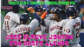 José Altuve Pego Joron con Bases Llenas y Los Astros Derrotaron Texas en la Entrada #10