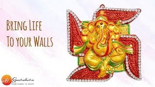 Terracotta Home Decor - Ganesha wall hanging
